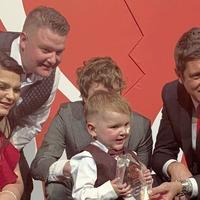 West Belfast three-year-old Dáithí Mac Gabhann wins 'Hero Heart' award in London