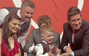 West Belfast three-year-old wins 'Hero Heart' award in London