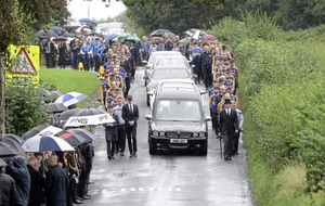 Talented young footballer Niall Laverty (18) remembered at funeral as a 'precious gem'