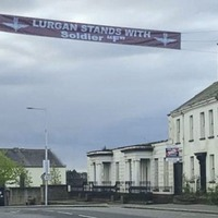 Soldier F banner removed in Co Armagh