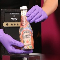 Heinz ketchup bottle inspired by Ed Sheeran's tattoos to go on display at V&A
