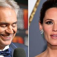 Jennifer Garner makes musical debut in duet with Andrea Bocelli