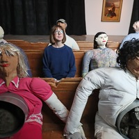 Paper mache train commuters in running for this year's Turner Prize