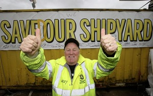 'We saved our shipyard' say H&W workers as Belfast shipyard is bought from administration for £6m