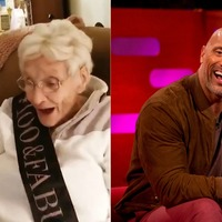 Dwayne Johnson sends birthday message to 100-year-old superfan