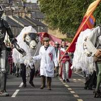 In Pictures: Puppets on parade as town celebrates festival