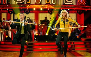 Second couple leave the Strictly dance floor
