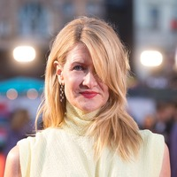 Laura Dern braves the cold in sleeveless dress at premiere