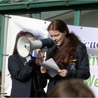 Pupils march for mental health awareness