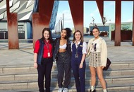 Little Mix pay a visit to Titanic Belfast