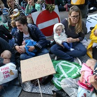 In Pictures: Extinction Rebellion highlights climate plight of today's children