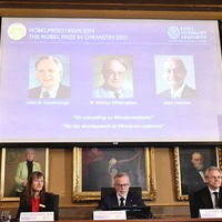 Three awarded Nobel Prize in Chemistry for work on lithium-ion batteries