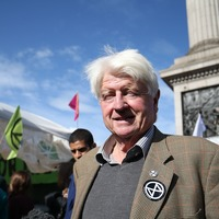 Calling me a 'crusty' is a compliment says Boris Johnson's dad at climate demo