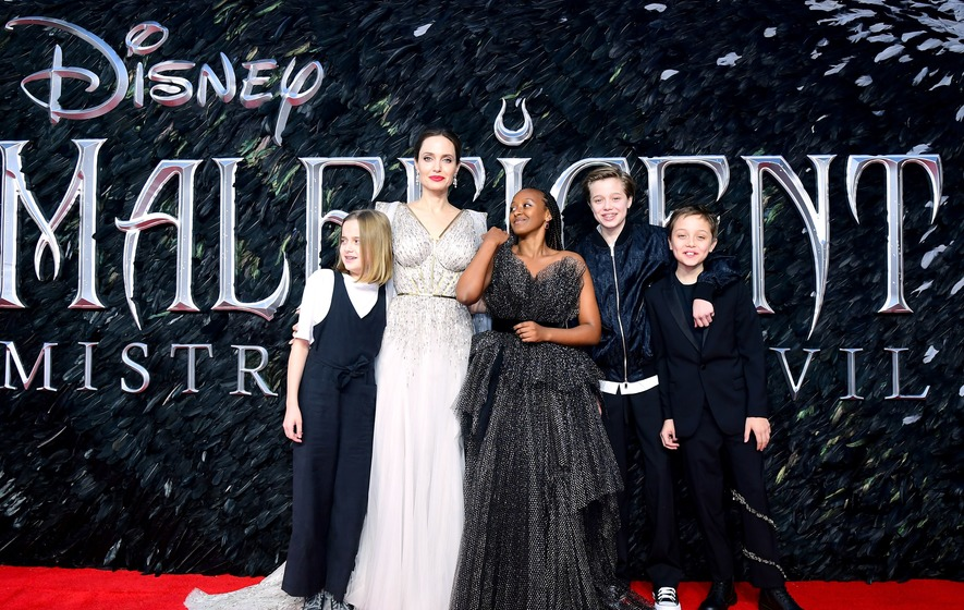 Angelina Jolie Joined By Her Children At Maleficent Premiere