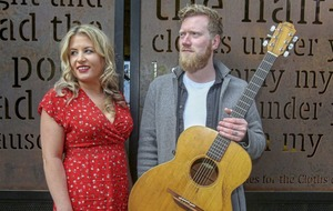 Singer Gareth Dunlop and author Emma Heatherington's novel new partnership