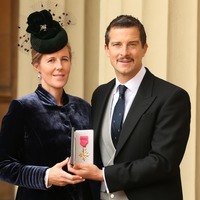 Adventurer Bear Grylls' moustache a talking point for Queen at investiture