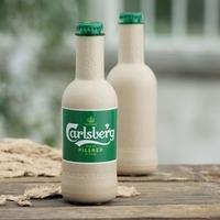 Carlsberg unveils paper beer bottle