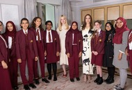 Angelina Jolie meets London schoolgirls to mark International Day of the Girl