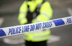 Police probe after man falls and is shot in stomach following car attack