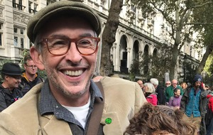 Steve Coogan joins Extinction Rebellion march in Whitehall
