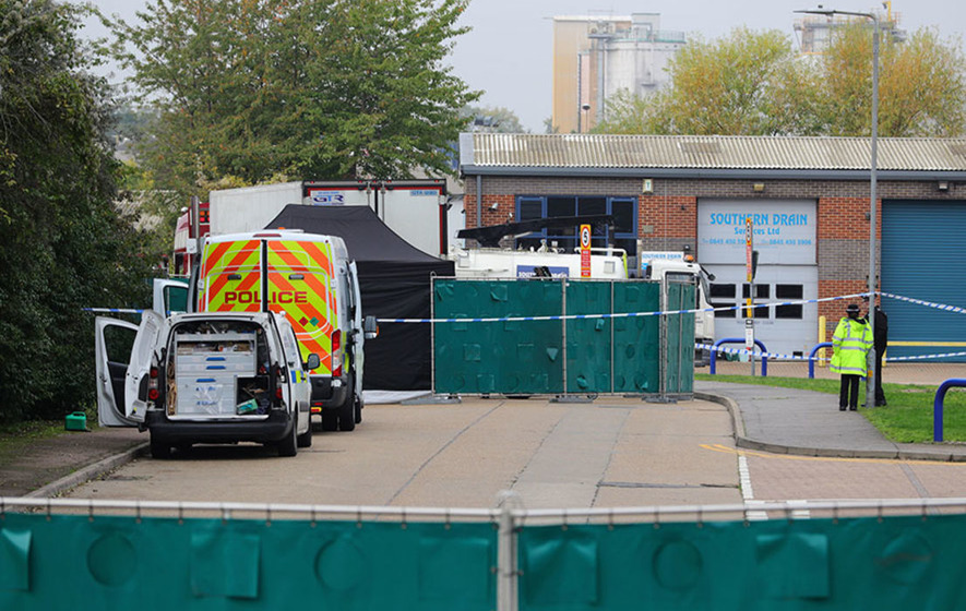 Murder investigation as 39 bodies found inside lorry container in Essex