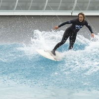 First riders take to inland surfing lake