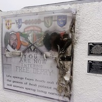 Memorial to memory of dissident republican's father attacked