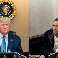 Situation Room shots underline contrast between Obama and Trump presidencies