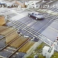 Video: Near-death misses at level crossings captured on CCTV
