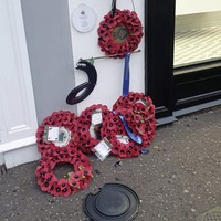 Vandals damage poppy wreaths laid in memory of six soldiers killed in a Lisburn bomb attack