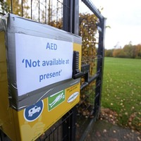 Defibrillator could not be accessed because 'not registered with Ambulance Service'