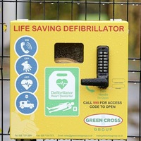 Defibrillator back in place at Belfast council playing field after being registered with ambulance service