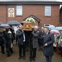 Mourners told west Belfast priest Fr Des Wilson now 'free from limitations and pains of life'