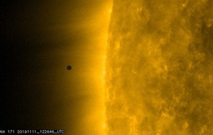 Observers catch rare glimpse of Mercury passing the sun
