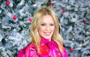 Kylie Minogue pretty in pink at Last Christmas premiere