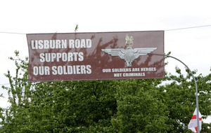 Stormont threatened charities with £50 fee for unauthorised signs – while Soldier F banners fly freely