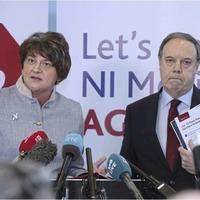 John Finucane banners row: Arlene Foster challenges Sinn Féin to condemn IRA attacks