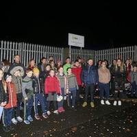 Children protest following closure of their Irish medium youth club
