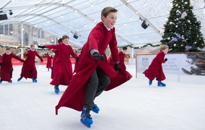 In Pictures: Choirboys hit the right note at ice rink