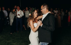 Daughter of murdered police officer dances with his colleagues at her wedding