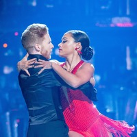 Alex Scott laughs off Strictly wardrobe malfunction