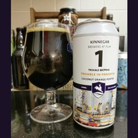 Beer: Kinnegar's coconut orange porter Trouble In Paradise and five per cent Hefeweizen