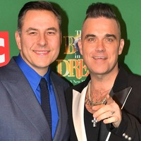 Williams and Walliams are a dapper pair at The Boy In The Dress opening