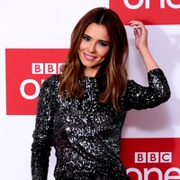 Cheryl sparkles in glittery jumpsuit at The Greatest Dancer launch