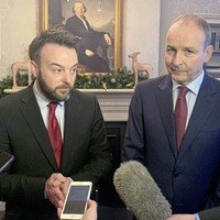 Micheál Martin campaigns with Colum Eastwood in Foyle battleground