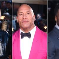Dwayne 'The Rock' Johnson pretty in pink for Jumanji premiere in London