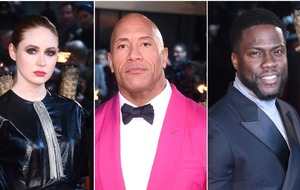 Dwayne 'The Rock' Johnson pretty in pink for Jumanji premiere in London