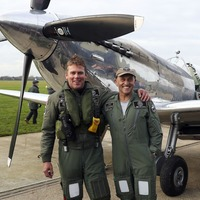 British pilots become first to fly restored Spitfire around the world