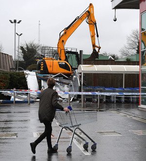 Two cash machines stolen from Antrim Tesco store