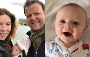 Dad describes 'phenomenal' moment he turns on baby daughter's hearing aids